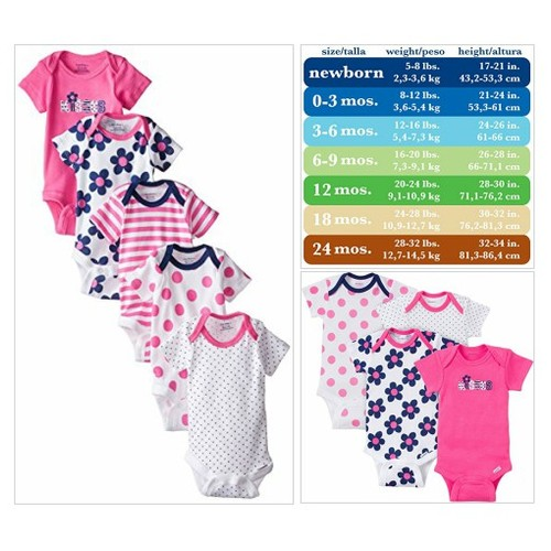 #Gerber #Baby#Girls# Variety #Onesies #Brand #Bodysuits, Flowers, 0-3 Months (Pack of 5) #socialselling #PromoteStore #PictureVideo @SharePicVideo