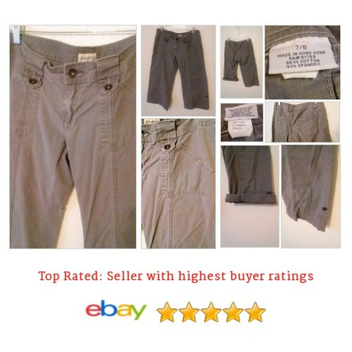 Maurices Size 7 / 8 Capris Gray Cuffs Khakis Pants Cargo | eBay #Jean #Capri #Maurice #etsy #PromoteEbay #PictureVideo @SharePicVideo