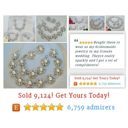 #Wedding Jewelry Sets MissJoansBridal Etsy shop #Bridal Jewelry #etsy #PromoteEtsy #PictureVideo @SharePicVideo