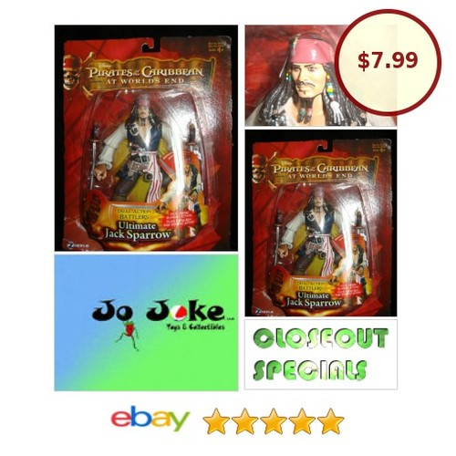 DISNEY-P.O.C.-ULTIMATE JACK SPARROW-7 IN-DUAL ACTION BATTLER-AT THE WORLDS END | eBay #ZIZZLE #etsy #PromoteEbay #PictureVideo @SharePicVideo
