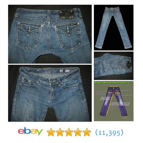 Miss Me Skinny Jeans Size 28x31 Triangle Flap Back Button Pockets #ebay @bobtolin  #etsy #PromoteEbay #PictureVideo @SharePicVideo