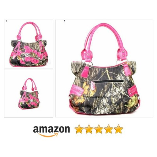 Western Hot Pink Camouflage Flower Rhinestone Concho Handbag  @itscowgirlthing #shopify https://SharePicVideo.com?ref=PostVideoToTwitter-itscowgirlthing #socialselling #PromoteStore #PictureVideo @SharePicVideo