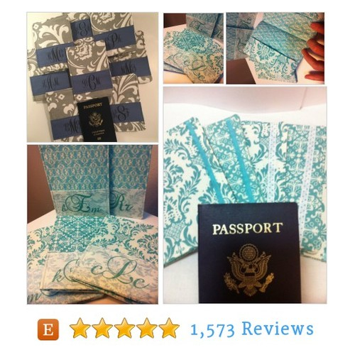 Monogrammed Wedding Party Passport Covers, #etsy @retrochique  #etsy #PromoteEtsy #PictureVideo @SharePicVideo