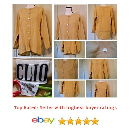 #Clio Women's Blouse Size 14 Plus Size 100% Silk Beige Button Spring Hippy BoHo | eBay #Top #Tunic #etsy #PromoteEbay #PictureVideo @SharePicVideo