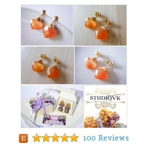 Carnelian Earring July Birthstone Post #etsy @studiovk5  #etsy #PromoteEtsy #PictureVideo @SharePicVideo