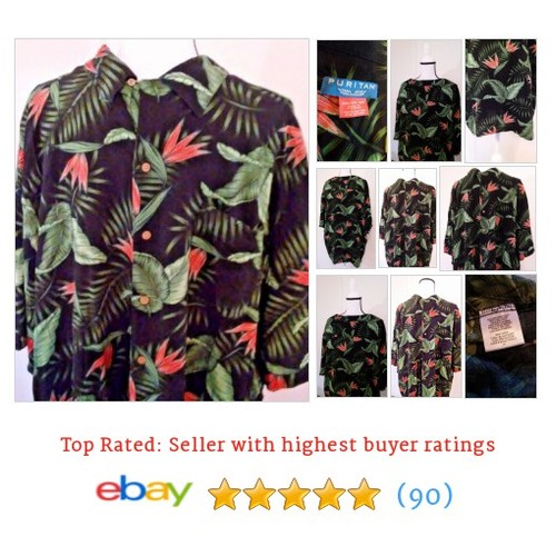 #Puritan Hawaiian Shirt 3xl Men's Green Black Red Floral Rayon Button Down | eBay #Hawaiian #CasualShirt #etsy #PromoteEbay #PictureVideo @SharePicVideo