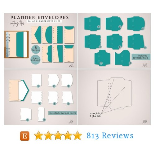 Planner Envelopes Cutting Files – SVG (8 #etsy @listlab  #etsy #PromoteEtsy #PictureVideo @SharePicVideo
