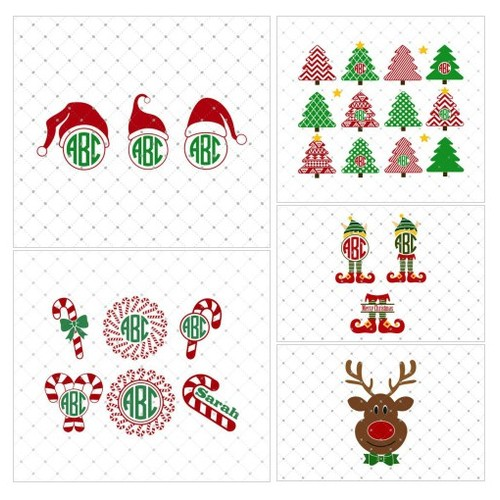 Santa Claus Hat Monogram SVG Cut files @svgcutstudio  #socialselling #PromoteStore #PictureVideo @SharePicVideo