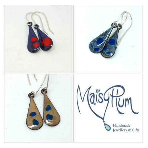 Droplet Enamel Earrings @MaisyPlum2 #socialselling #PromoteStore #PictureVideo @SharePicVideo