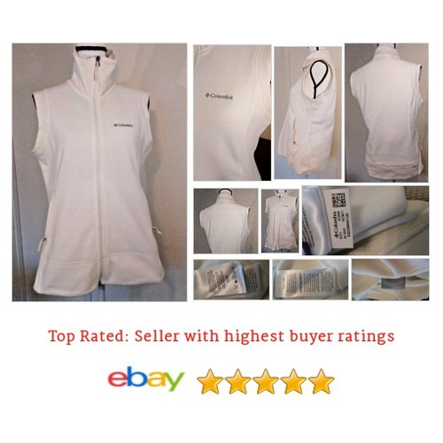 #Columbia Fleece Cream/Off White #Vest #Large #Spring #Sports  eBay #Classic #etsy #PromoteEbay #PictureVideo @SharePicVideo