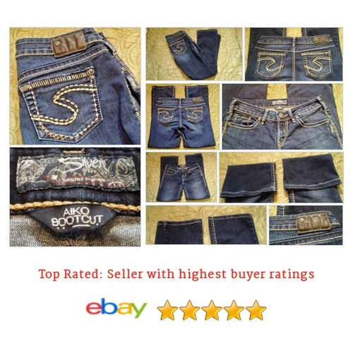 #Buckle #Silver Jeans Women's Size 29 Waist #Aiko #Bootcut Blue #Flashy Stitching | eBay #Jean #BootCut #SilverJean #etsy #PromoteEbay #PictureVideo @SharePicVideo