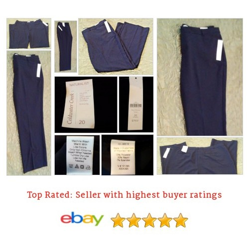 Women's Pants Size 20W Plus Blue Natural Fit New With Tags Light Weight 2x | eBay #Pant #DressPant #ColdwaterCreek #etsy #PromoteEbay #PictureVideo @SharePicVideo
