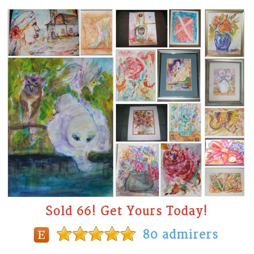 Watercolor Paintings Etsy shop #watercolorpainting #etsy @davilampg  #etsy #PromoteEtsy #PictureVideo @SharePicVideo