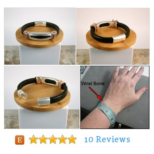 Mens black leather bracelet #Jewelry #Bracelet @oneofonedzyns  #etsy #PromoteEtsy #PictureVideo @SharePicVideo