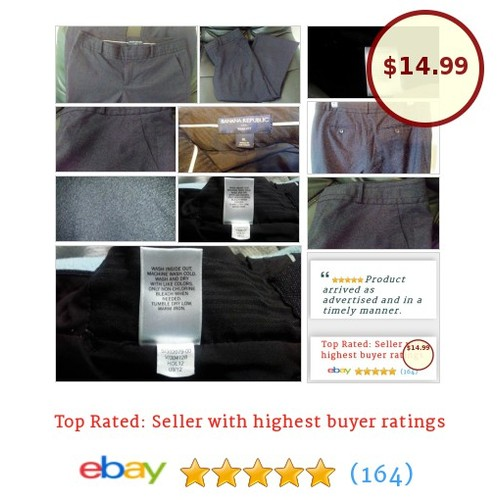 Banana Republic Women's Pants Size 8 Ryan Fit Charcoal Gray Grey Trousers Slacks | eBay #Pant  #BananaRepublic #etsy #PromoteEbay #PictureVideo @SharePicVideo