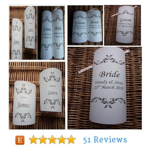 Wedding luminaries for the Bride and Groom, #etsy @wedding_wendy  #etsy #PromoteEtsy #PictureVideo @SharePicVideo