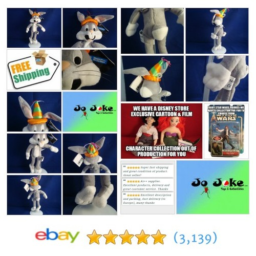 WARNER BROS STORE-BIRTHDAY BUGS BUNNY-10 INCH-HAT WITH STREAMERS--NEW/TAG-1998 | eBay #WARNERBROSSTUDIOSTORE #etsy #PromoteEbay #PictureVideo @SharePicVideo