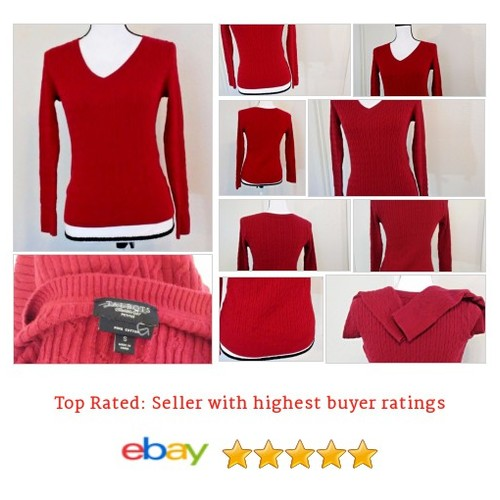 Talbot's Women's #Sweater Size S Red Pima 100% Cotton Bright Light Spring | eBay #VNeck #Talbot #etsy #PromoteEbay #PictureVideo @SharePicVideo
