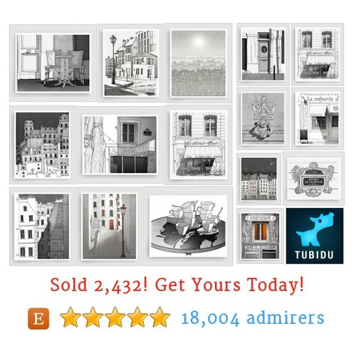B&W Paris Illustrations Etsy shop #etsy @tubidugraphics  #etsy #PromoteEtsy #PictureVideo @SharePicVideo