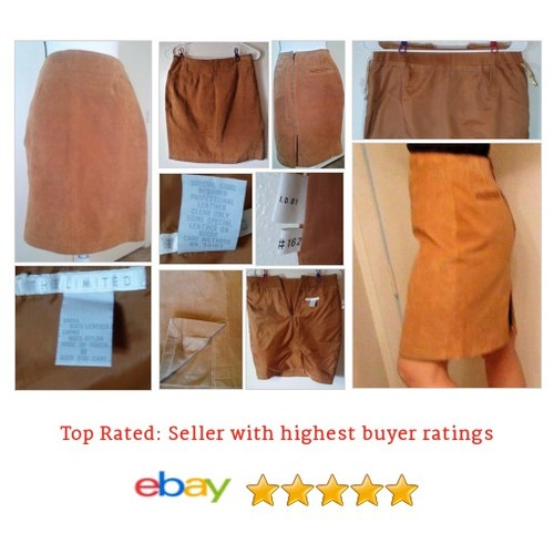 The Limited Suede Leather #Skirt Brown Size 8 Lined Solid Rear Pocket Back Slit | eBay #ALine #WomensClothing #etsy #PromoteEbay #PictureVideo @SharePicVideo