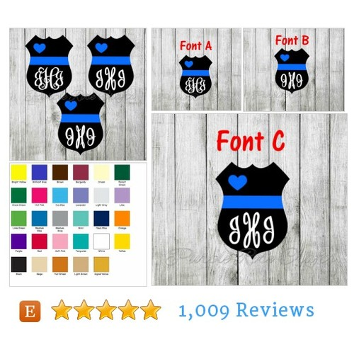 Police Love Thin Blue Line Monogram #etsy @purplerosecraft  #etsy #PromoteEtsy #PictureVideo @SharePicVideo