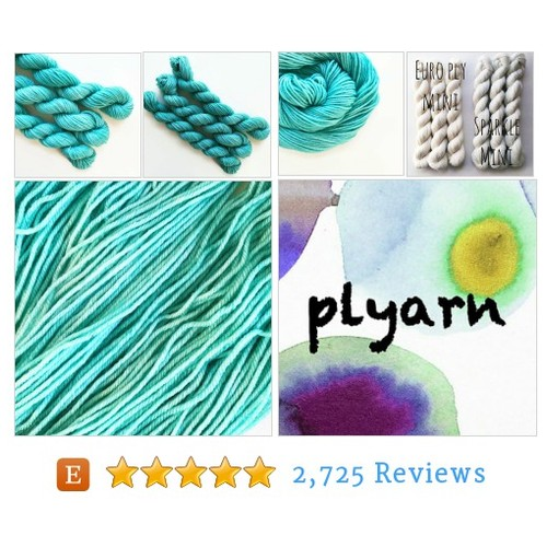 atlantic / hand dyed yarn / mini skein / #etsy @pancakeandlulu  #etsy #PromoteEtsy #PictureVideo @SharePicVideo