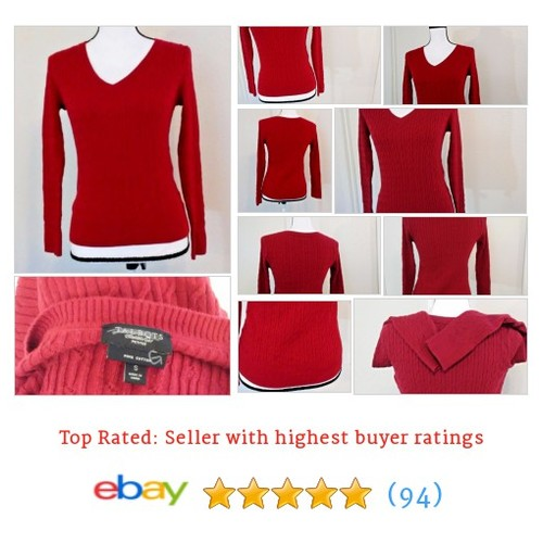 Talbot's Women's #Sweater Size 4P Red Pima 100% Cotton Bright Light Spring | eBay #VNeck #Talbot #etsy #PromoteEbay #PictureVideo @SharePicVideo