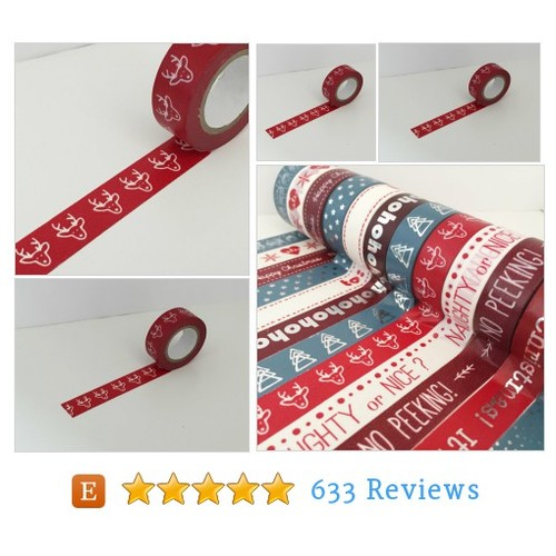 Modern Christmas Washi Tape - Single Roll #etsy @homemadehaven12  #etsy #PromoteEtsy #PictureVideo @SharePicVideo