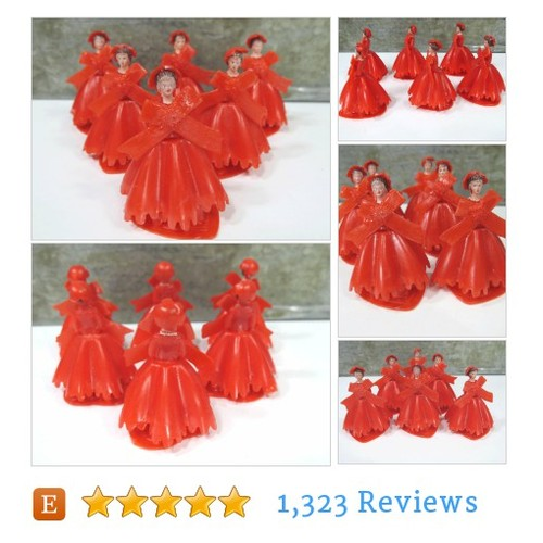 6 RED Bridesmaid Cake Toppers, Vintage #etsy @_urban_renewal  #etsy #PromoteEtsy #PictureVideo @SharePicVideo