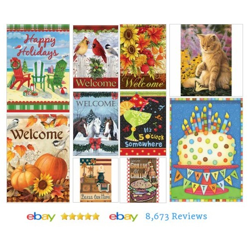 Garden Flags Items in Shar's Boutique store on eBay! #GardenFlag #ebay #PromoteEbay #PictureVideo @SharePicVideo