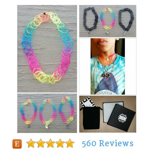 RAINBOW VINTAGE Tattoo Choker #jewelry #etsy @nazarijewelry  #etsy #PromoteEtsy #PictureVideo @SharePicVideo