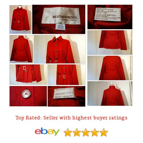 #WeatherproofGarmentCo #Coat Size #Large L #Red #Trench @eBay  #etsy #PromoteEbay #PictureVideo @SharePicVideo