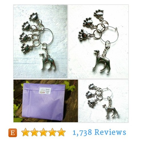 Knitting Stitch Markers for hound lovers #etsy @daisyflame  #etsy #PromoteEtsy #PictureVideo @SharePicVideo