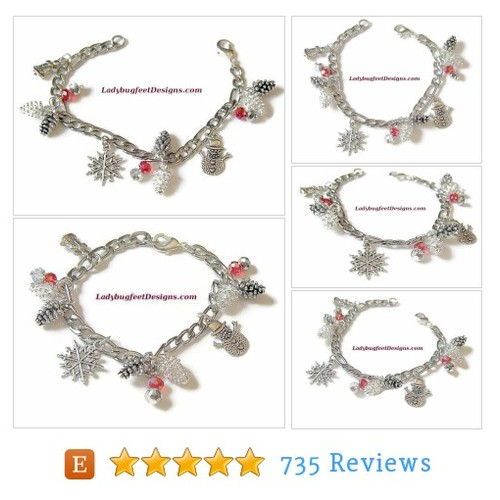 Holiday 2 Pine Cone bracelet, Figaro Chain #etsy @mchughdiane  #etsy #PromoteEtsy #PictureVideo @SharePicVideo