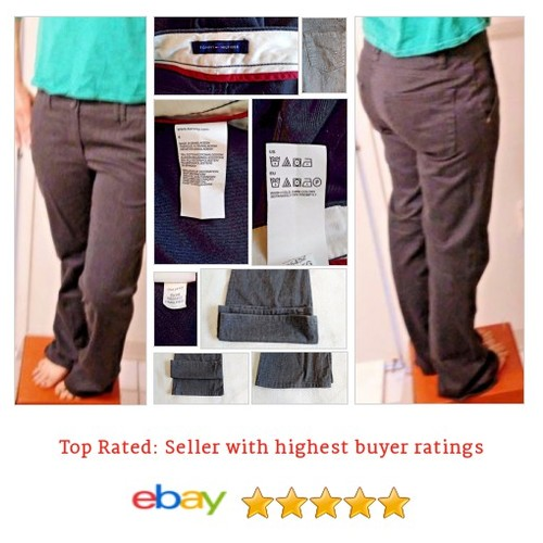 "Tommy Hilfiger Pants Size 6 Charcoal Gray 32"" Inseam 