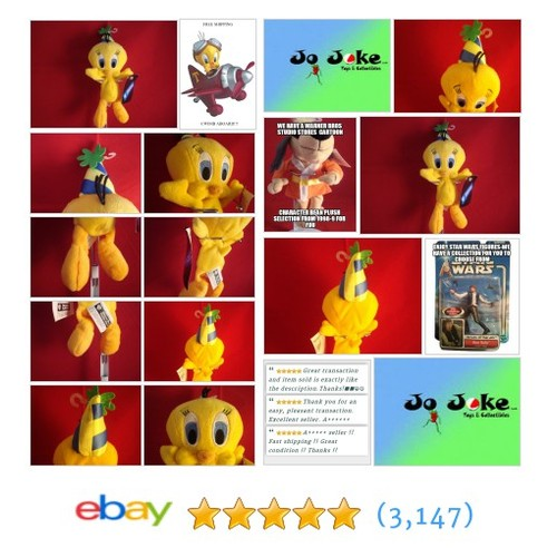 WARNER BROS STUDIO STORE-BIRTHDAY-TWEETY BEAN PLUSH-10 INCH-NEW/TAS-1998-COOL! | eBay #WARNERBROSSTUDIOSTORE #etsy #PromoteEbay #PictureVideo @SharePicVideo
