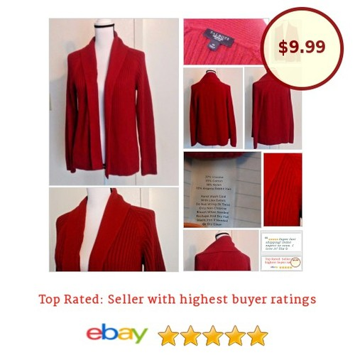 #Talbots #Sweater Size Petite Medium #Red #Cardigan |#fashionista #fashion #auction #chic #etsy #PromoteEbay #PictureVideo @SharePicVideo