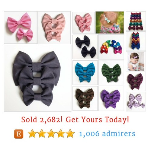 Solid Colored Hair Bows Etsy shop #etsy #PromoteEtsy #PictureVideo @SharePicVideo