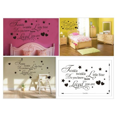 #Twinkle #Little #Star #Do #You #Know #How #Loved Are - Girl's or Boy's Nursery - Vinyl #socialselling #PromoteStore #PictureVideo @SharePicVideo