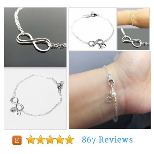 Double Infinity bracelet, Infinity initial #etsy @jcs_alice  #etsy #PromoteEtsy #PictureVideo @SharePicVideo