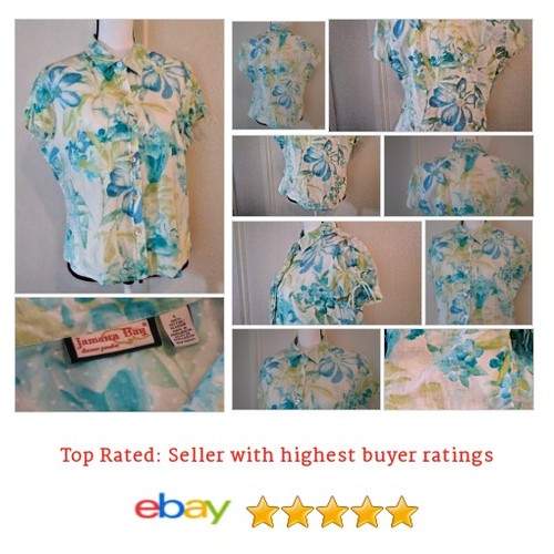 Jaimaca Bay Women's #Blouse Size L 100% Cotton Floral Multi-Color Jacquard Button | eBay #Top #JamaicaBay #etsy #PromoteEbay #PictureVideo @SharePicVideo