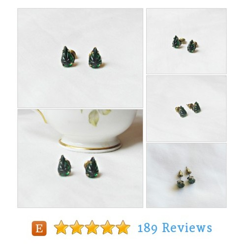 Emerald Green Earrings Ear Studs Vintage #etsy @dspdavey https://www.SharePicVideo.com/?ref=PostPicVideoToTwitter-dspdavey #etsy #PromoteEtsy #PictureVideo @SharePicVideo