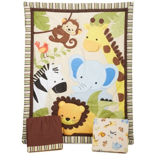 #Bedtime #Originals# Jungle# Buddies #3 #Piece #Crib# Bedding #Set,# Brown/#Yellow #socialselling #PromoteStore #PictureVideo @SharePicVideo
