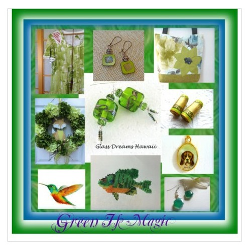 T -Green Is Magic #polyvorestyle #etsyspecialt #etsy #TintegrityT  www.etsy.com/shop/SylCameoJewelsStore #socialselling #PromoteStore #PictureVideo @SharePicVideo