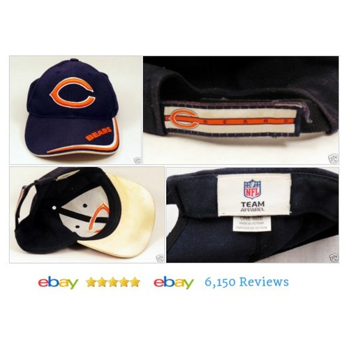Chicago BEARS Baseball #Hat Orange Blue NFL Team Apparel Sports #BaseballCap #MensAccessory #etsy #PromoteEbay #PictureVideo @SharePicVideo