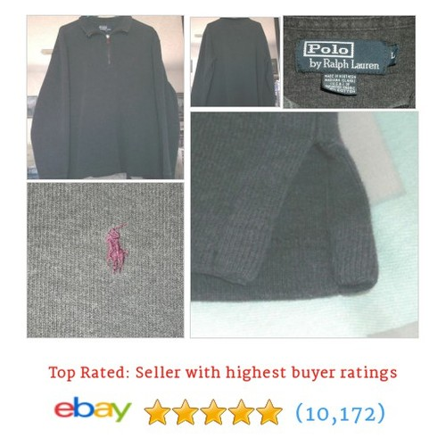 Polo Ralph Lauren Sweatshirt Collar Long Sleeve  @havamom15 #ebay  #etsy #PromoteEbay #PictureVideo @SharePicVideo