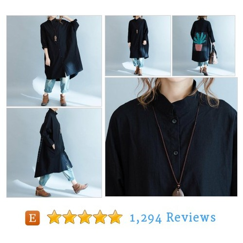 Women Loose long sleeved shirt Asymmetric #etsy @bjkphma  #etsy #PromoteEtsy #PictureVideo @SharePicVideo
