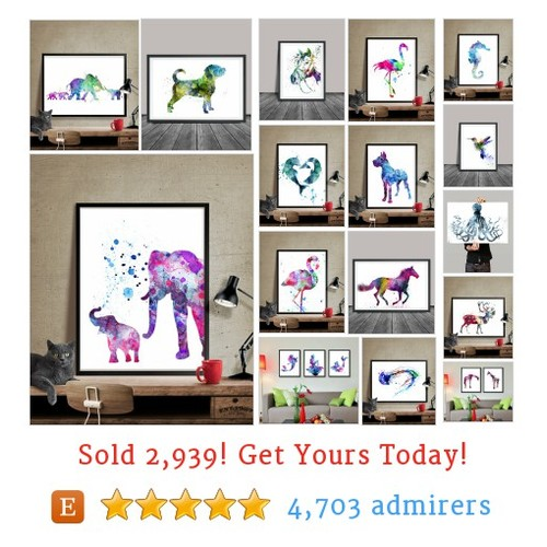 Animal Art Print Etsy shop #animalartprint #etsy @fineartcenter  #etsy #PromoteEtsy #PictureVideo @SharePicVideo
