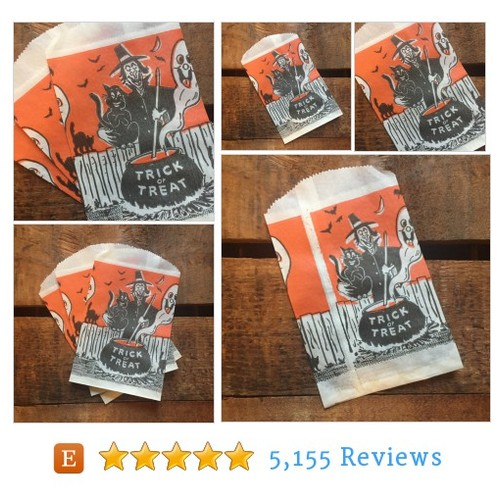 Vintage Halloween Treat Bags - Set of 4 - #etsy @artgirlsrock  #etsy #PromoteEtsy #PictureVideo @SharePicVideo