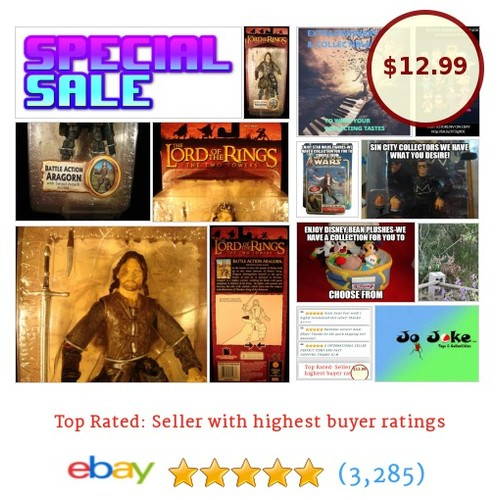 LORD OF THE RINGS-BATTLE ACTION ARAGORN-TWO TOWERS-ARTICULATED-MOVEMENT-NEW-RARE | eBay #Action #etsy #PromoteEbay #PictureVideo @SharePicVideo